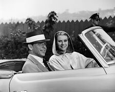 Frank Sinatra and Grace Kelly Black and White Art  Print Poster
