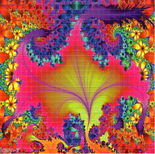 NEON FLOWER FRACTAL -  BLOTTER ART perforated psychedelic