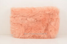 Ryan Roche for Beauty.com Nude/Pink Faux Fur Fluffy Clutch Bag Brand New