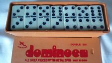 Dominoes Plastic Case Ivory Classic Puerto Rico Large Doble Seis Domino Jumbo