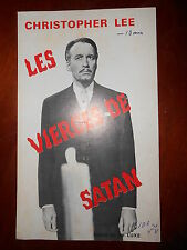 CHRISTOPHER LEE  THE DEVIL RIDES OUT 1968 TERENCE FISHER HAMMER RARE SYNOPSIS