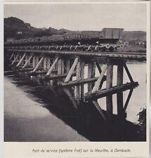 1955  --  PONT DE SERVICE SUR LA MEURTHE A DOMBASLE   3K238