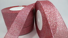 "NEW 5yards 1 ""25mm glitter ribbons Bling for DIY Wreaths decorated and Bows T18E"