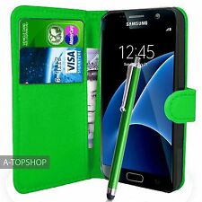 Green Wallet Case PU Leather Book Cover For Samsung Galaxy S7 G930 Mobile