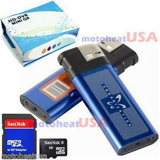 4GB Q8 Mini DV Metal Lighter Hidden Spy Cam Camera Nanny DVR USB Video Recorder