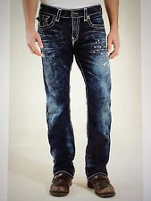 TRUE RELIGION RICKY SUPER-T MEN JEAN DRY BRUSH M859NTW9 NWT 36W $369 MADE IN USA