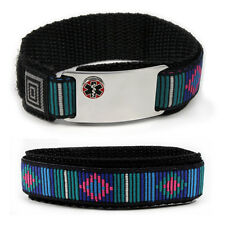 Sport Medical Alert ID Bracelet raised Emblem. Free wallet Card and  engraving!