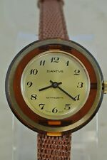 Vintage Diantus Antimagnetic Acrylic Swiss Made Womens Watch with Leather Band