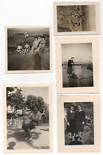 Lot 5 PHOTOS ANCIENNES Snapshot Vintage Ombre du photographe Vers 1930 - 1960