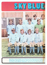 Coventry Ville 1971-1972 double page équipe groupe ORIG main signé x 3 n Cantwell