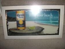 "NEW! Corona Extra Find Your Beach Bar Mirror 26.5"" x 14.5"""