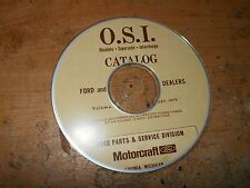 1960's 1970's FORD OSI OBSOLETE SUPERSEDE INTERCHANGE PARTS MANUAL ON CD VOL4 79
