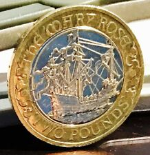 2011 £2 COIN MARY ROSE 500TH ANNIVERSARY RARE TWO POUNDS