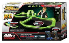 Max Traxxx Tracer Racers Infinity Loop Set RC Remote Control w/ 2 Cars Toy Gift