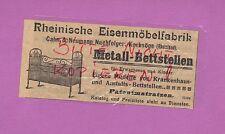 KREBSÖGE, Werbung 1905, Rheinische Eisen-Möbel-Fabrik Cahn & Neumann Nachf.