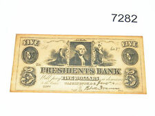 1852 President's Bank 5 Dollar Promotional Note Copy Reproduction Souvenir $5