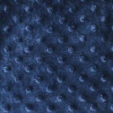 "Navy Minky Dot Cuddle Fabric - Sold By The Yard - 58""/ 60"""