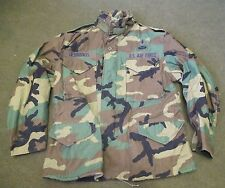 GENUINE US/USAF M65 BDU/WOODLAND COLD WEATHER COMBAT JACKET. MEDIUM-EXTRA SHORT.
