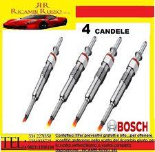 CANDELETTE BOSCH FIAT STILO 1.9JTD 59KW-74KW-85KW    0250202036