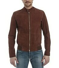 Jacket Gas Jeans Suede Leather Man Men Jacket 100% Leather And-best Brown