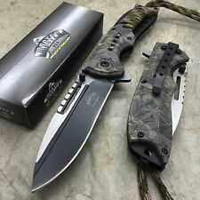 Master USA Ballistic Fall Leave Camo Coated Over Nylon Fiber Handle Pocket Knife