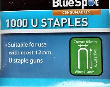 1000 U shape round crown 12mm staple gun staples