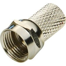 30 F Type Screw On Satellite Coax Connectors Suitable for RG6 CT100 WF100 Cable