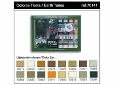 Vallejo Model Color Earth Tones set - 16 paints # 70141