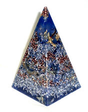 Lrg Blue Orgone Energy Russian Pyramid Positive Energy  6 3/4""