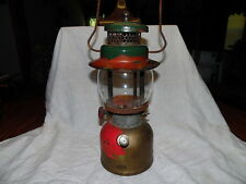 Vintage Coleman 242C Single Mantle Lantern Red Letter Pyrex Globe