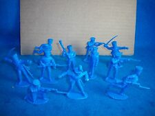 TIMPO Napoleonic Prussian Infantry Toy Soldiers  (Blue) - 54MM - 12 in 8 poses