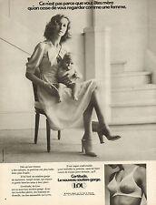 Publicité  Advertising 1968  Lingerie LOU soutien gorge slip sous vetement