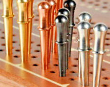 """Cribbage Pegs, 12-Classic 1/8"""",  3 ea. Brass,Copper,St.Steel, Black Metals; USA"""