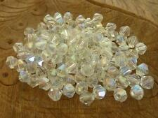 120 pce Clear AB Faceted Bicone Crystal Glass Spacer Beads 4mm