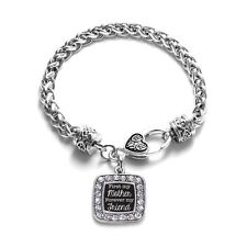 Inspired Silver First My Mother Forever My Friend Classic Braided Charm Bracelet