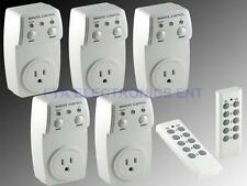 Wireless Remote Controlled Switch Socket Outlet 5-Pack Light Switch Plug Socket