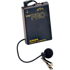 Azden WLT-PRO Professional Wireless Clip-on Lavalier Microphone and Transmitter