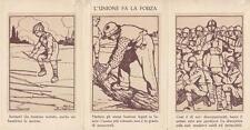 """C1799) WW1, """"L'UNIONE FA LA FORZA"""". ILLUSTRATORE ATTILIO. VIAGGIATA."""