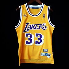 100% Authentic Kareem Abdul Jabbar CAP Soul Swingman Lakers NBA Jersey S - kobe