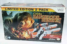 Wii limited edition Cabela's Dangerous hunts 2011 w game & 2 guns