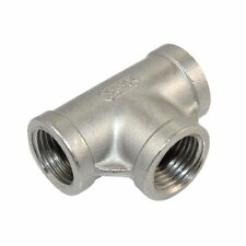 """1 Pcs 1/2"""" Tee 3 way Female Stainless Steel 304 Threaded Pipe Fitting NPT"""