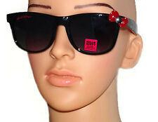 Hello Kitty Black Sunglasses Retro Eyewear Red Bow Glasses Shatter Resistant NEW
