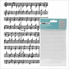 SHEET MUSIC embossing folder - Kaisercraft embossing folders EF242 All Occasion
