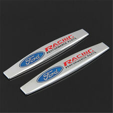 2 × Emblem Badge Decal Trunk Rear Chrome for FORD Mustang Focus Cobra RACING