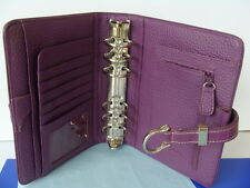 "Compact 1.25"" Ring COW SUEDE LEATHER Franklin Covey Planner BINDER ~ Dusty-Lilac"