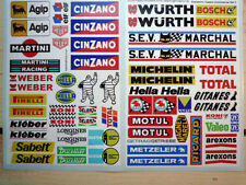 SCALEXTRIC Model Slor Racing Car STICKERS European Model Pit Trackside Buildings
