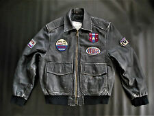 LEVI'S Vintage Leather Bomber Men's Jacket Size Small