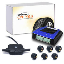 Car Solar TPMS Wireless RV Tire Pressure Monitoring System +6 Sensor LCD Display