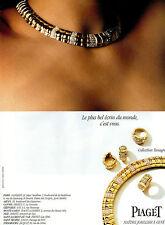Publicité 2000  PIAGET Maitre Joaillier bijoux collier bague Collection Tanagra