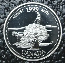 CANADIAN GEM 1999 - 25 CENTS - .925 SILVER PROOF - August/Pioneer Spirit